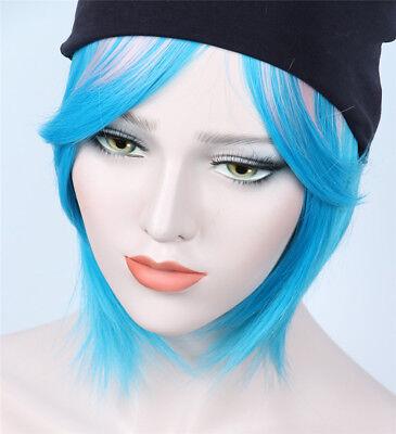 Chloe Price Wig Game Life is Strange Cosplay Wig Costume Blue Anime Wig