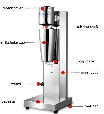 Electric Milkshake Mixer Milk Tea Cocktail Mixer Stainless