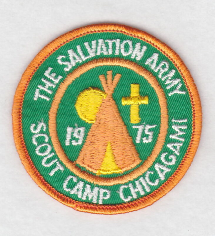 Salvation Army Patch:  Scout Camp Chicagami, 1975