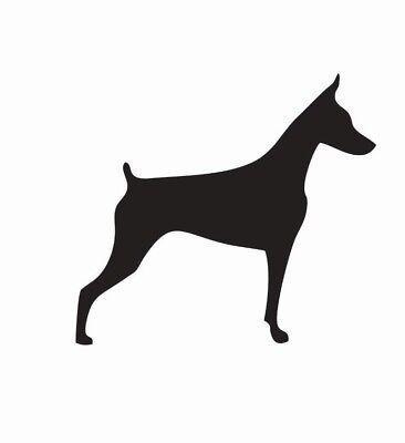 Doberman Pinscher Dog Vinyl Die Cut Car Decal Sticker - FREE SHIPPING