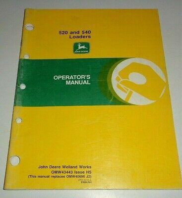 John Deere 520 540 Loader Operators Manual Original Fits 2440 - 5200 Tractors
