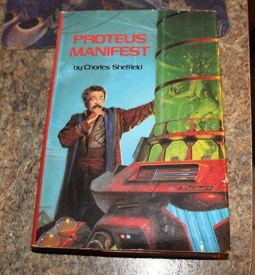 1989 Proteus Manifest Charles Sheffield science fiction HCDJ - f