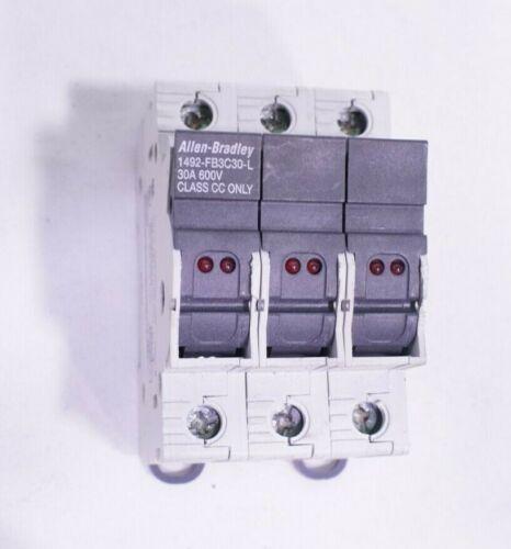 Allen Bradley 1492-FB3C30-L Fuse Holder 30A 600V With LED Blown Fuse Indicator