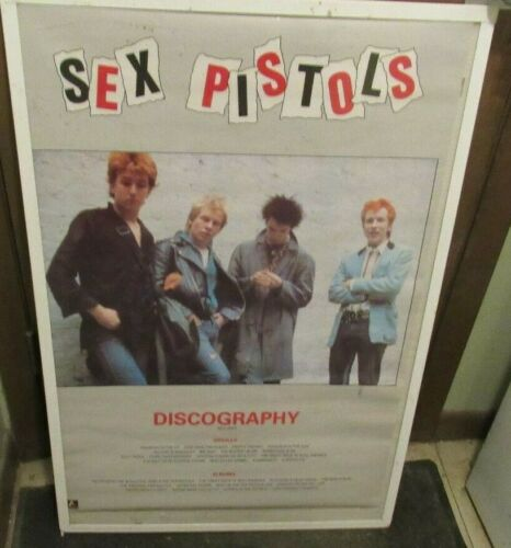 SEX PISTOLS POSTER NEW MID 1989  RARE VINTAGE COLLECTIBLE OOP SID VICIOUS ROTTEN