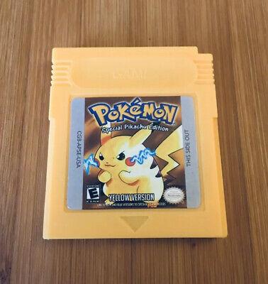 Custom Pokemon: Yellow Version - Nintendo Game Boy Color GBC - US Seller!