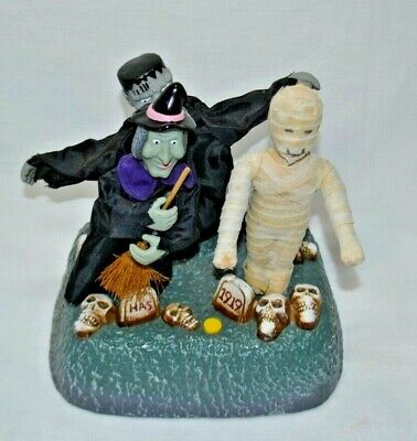Gemmy 1997 Animated Monster Mash Trio Halloween Witch Mummy Frankenstein Dancing