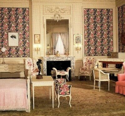 Mrs. Whitney's bedroom The Breakers Ochre Point Newport RI Vintage Postcard - Newport Bedroom Collection