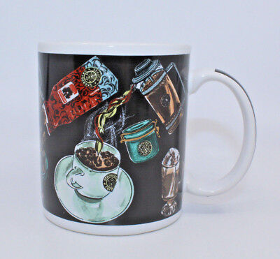 Starbucks Coffee Assembly Black White Coffee Tea Mug Cup Beans Made in Thailand