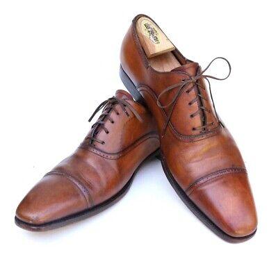Silvano Sassetti Italy Brown Leather Cap Toe Oxford Dress Shoe Goodyear Men's 13