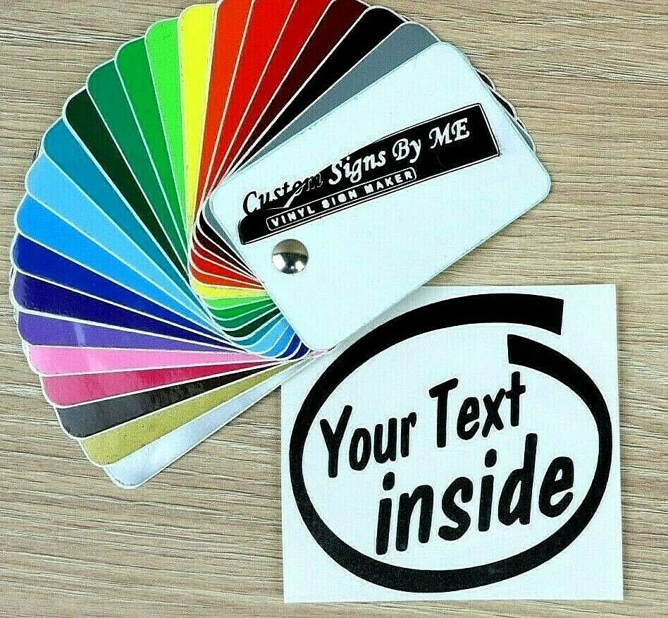 Details about personalised your text inside custom sticker vinyl decal adhesive car van laptop