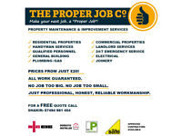 ⭐️⭐️⭐️⭐️⭐️ The Proper Job Co: Insured ✓ Handyman ✓ Builder ✓ Electrician ✓ Plumber ✓ Gas ✓ Joiner ✓