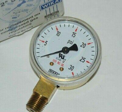 New Wika 111.11 2 30psi 14 Npt Pressure Gauge