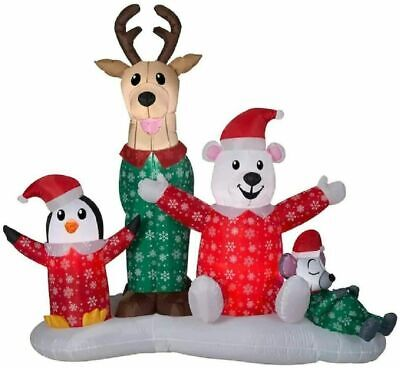 Gemmy 6.5 Ft CHRISTMAS PJ PARTY Airblown Lighted Yard Inflatable