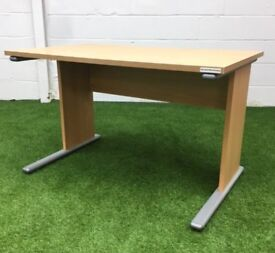Beech rectangular desk