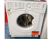 C464 NEW integrated white hotpoint 7kg washing machine comes with warranty can be delivered or coll