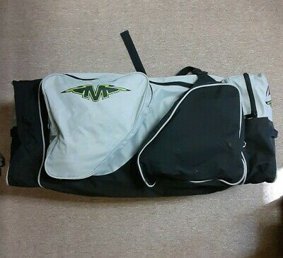 Vintage MISSION Extra Large Duffle Hockey Bag Sports Gear Bag Grey Black Nylon