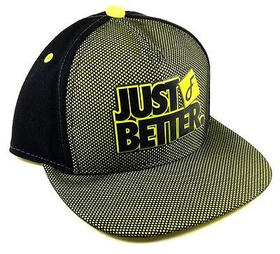 FLAT FITTY LUXURY JUST BETTER DO IT YELLOW BLACK MESH SNAPBACK HAT CAP FLAT