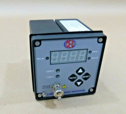 CEC Vibration Products 1-809 Vibration Monitor And Transmitter 4-20 mA Output