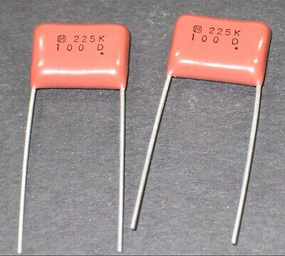 .056 MFd UF 600 V  Polyester Mylar Caps CAPACITORS Long Leads USA CDE