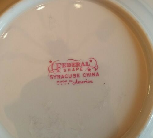 Federal Shape Syracuse China 8 Bowl. Gold Rim. ROSEMOOR Pattern  - $8.00