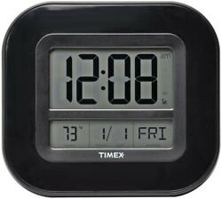 Timex Atomic Clock with Date, Day of Week and Indoor Temperature