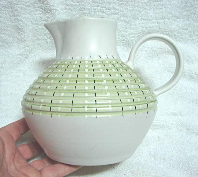 Denby Stoneware Retro Mid Century Design Jug Vase 18 Cm Other