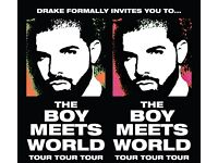 Drake tickets x 2 - Valentines 14 Feb - Block 105!!!