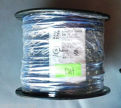 500 Feet Spool Of 16-26 Blue Stranded Copper Machine Tool Wire