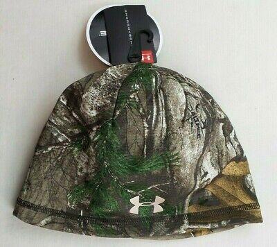 Under Armour Womens Fleece Beanie Hat Scent Control Storm Threadborne Realtree