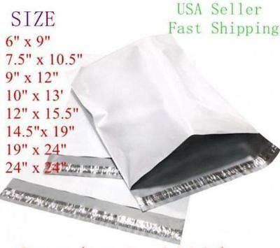 Poly Mailers Plastic Envelopes Shipping Bags 6x9 7.5x10.5 9x12 10x13 12x15.5