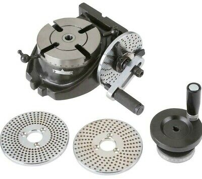 4 Precision Machinist Rotary Table With 3 Dividing Plates For Milling Machine