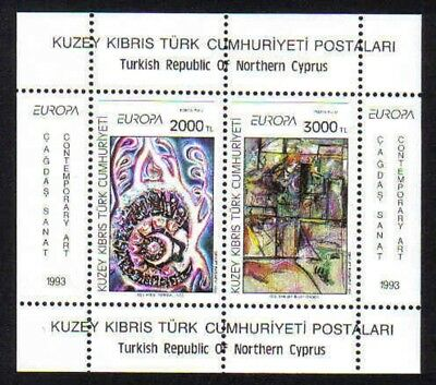 Turkish North Cyprus Stamps SG 353 1993 Europa Art Contemporary MINT