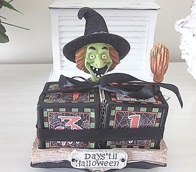 DAYS UNTIL HALLOWEEN WITCH COUNT DOWN CALENDAR New with Tags - Days Until Halloween Countdown