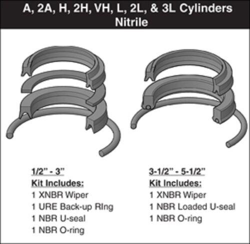 """Parker Hannifin 1/2"""" Rod Seal Kit RK2AHL0051 Nitrile"""