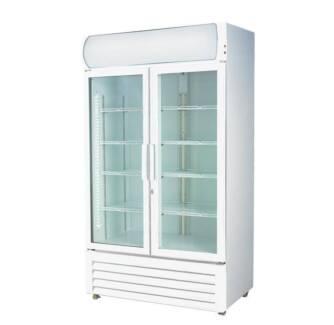 Colourbond Upright Drink Fridge Large Two Glass Door