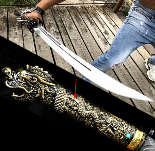 Dragon Handle Saber Sword Katana Outdoors Fighting Knife Sharp High Carbon Steel