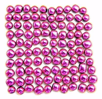 PINK TINY Lot 100 pcs DICHROIC mosaic FUSED GLASS (V20) CAB JEWELRY MAKING