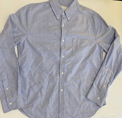 Men's Band Of Outsiders Blue Button Down Shirt Size XXL