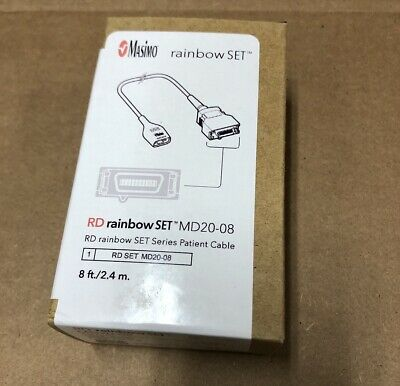 Masimo 4109 Rd Rainbow Set Md20-08 Patient Spo2 Extension Cable 8ft Oem New