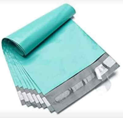 100 6x9 Turquois Poly Mailers 2 Mil Shipping Envelopes Self Sealing Bags