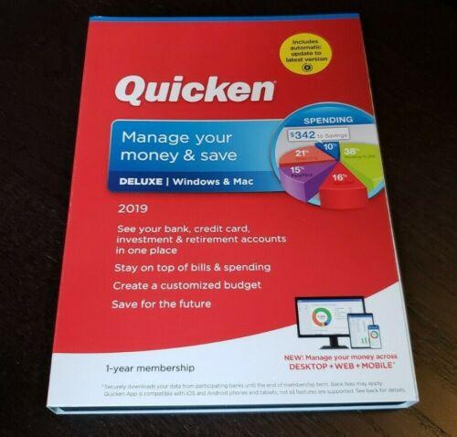BRAND NEW Quicken Deluxe 2019 Personal Finance Budgeting Software windows & Mac
