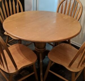 Foldable Round dining table only (solid wood)