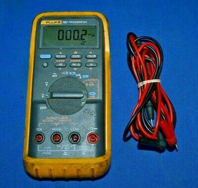 Fluke 787 Processmeter Digital Multimeter W Genuine Leads Yellow Case Holster