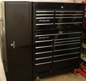 "snap on KRA series 40"" roll cab tool box chest cabinet & side locker"