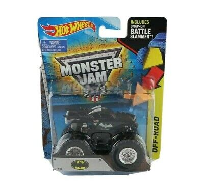 Batman Hot Wheels Monster Jam Diecast Monster Truck w/ Battle Slammer NIP