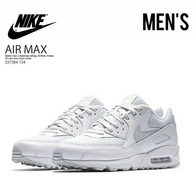 buy popular f012a 39d85 Nike Air Max 90 Essential Men s Running Shoes White Pure Platinum Size 9.5  US