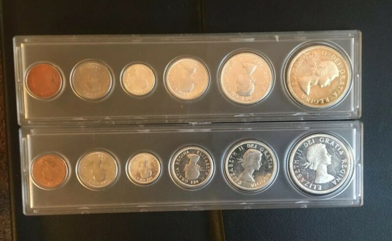1964  and 1963 Canada Mint Set in Acrylic Case