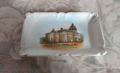 Vtg Collectible Central School Ceramic Soap Dish  Roswell  New Mexico