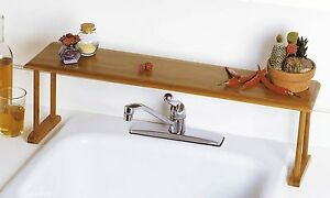 Lipper International Bamboo Over-The-Sink Shelf, New, Free Shipping