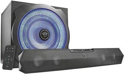Trust Tytan 2.1 Soundbar Lautsprecher Set Subwoofer Speaker LED Stereo für TV...